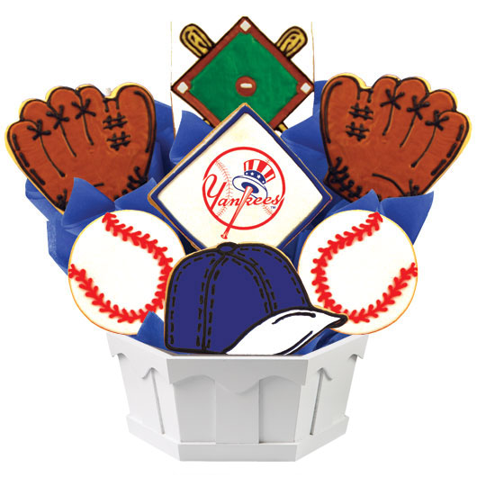 MLB New York Yankees Cookie Bouquet