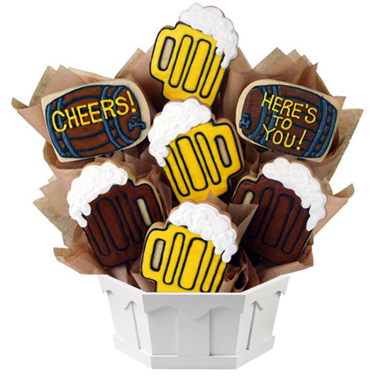 Beer Themed Cookie Bouquet Birthday Gifts For Men