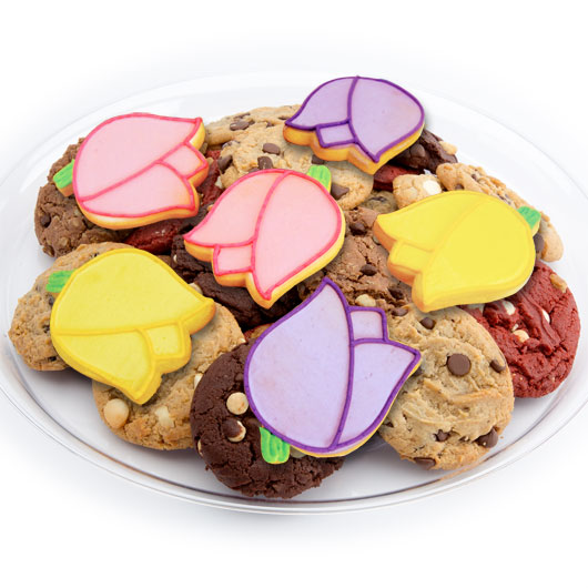 Mother's Day Cookie Tray | Tulip Shaped Cookies | Cookies ...